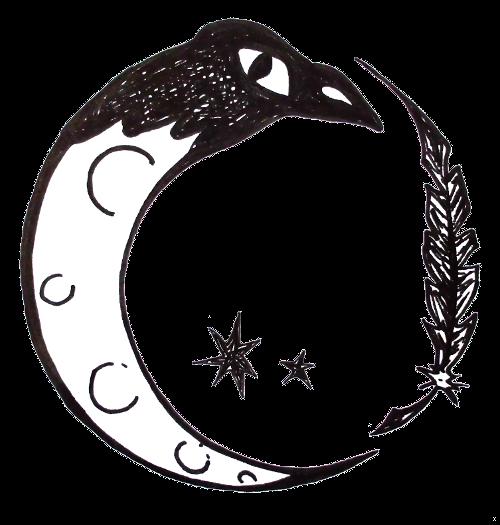 Un Corbeau Sous La Lune
