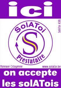 Autocollant prestataire du SolAToi