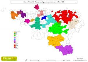 Carte : extension des monnaies locales